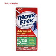Move Free Glucosamine Chondroitin MSM and Hyaluronic Acid Joint Supplement, 120 Coated tablets