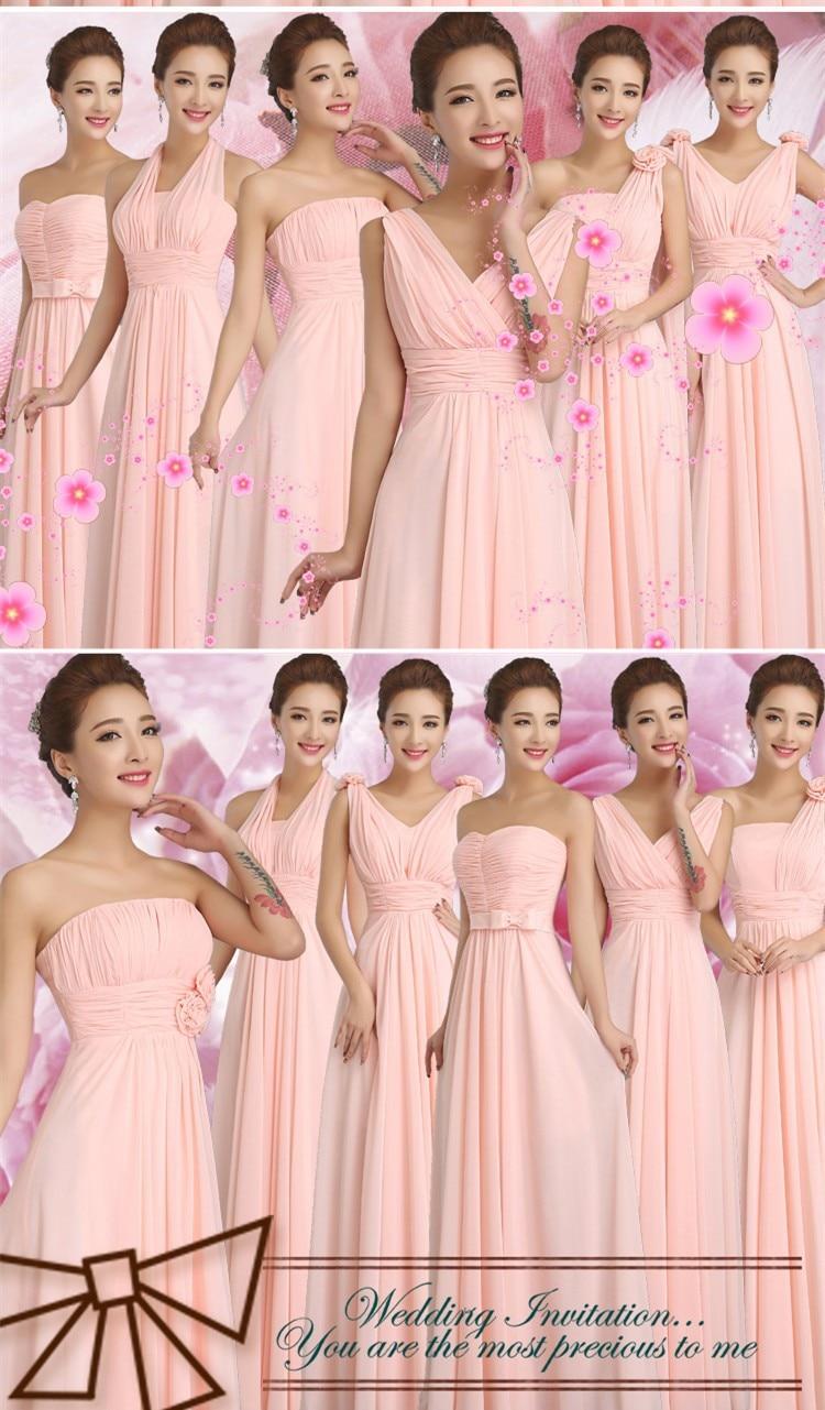 Asombroso Damas De Honor De Color Rosa Caliente Del Vestido ...