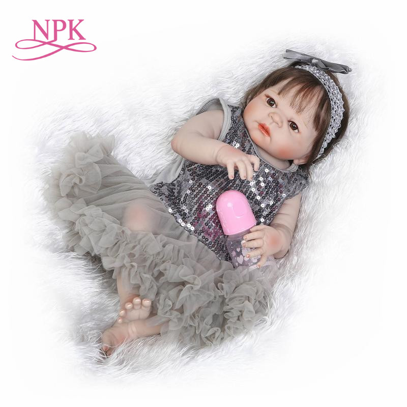 22 reborn Baby Doll Princess Girl Dolls full body Soft Silicone Babies Girls Lifelike real born