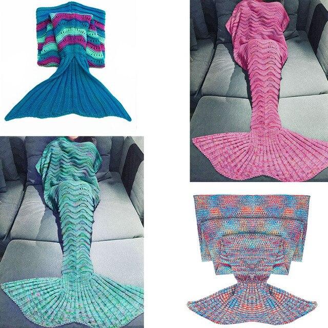 9 Size Hot Sell Mermaid Tail Blanket Handmade Crochet Mermaid