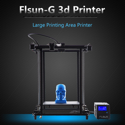 2018 Flsun Corexy 3D Stampante Più Il Formato 320*320*460 millimetri Pre-assemblaggio Telaio In Metallo V- slot Filamento Sensore Dual Z Vite di Comando Heatbed