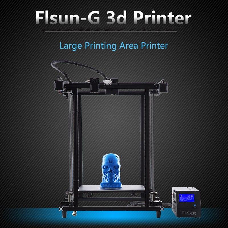 2018 Flsun Corexy 3D Stampante Più Il Formato 320*320*460mm Pre-assemblaggio Telaio In Metallo V- slot Filamento Sensore Dual Z Vite di Comando Heatbed
