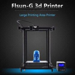 2018 Flsun Corexy 3D impresora Plus tamaño 320 320*460mm Pre-Asamblea de Metal Marco de V- ranura para Sensor de filamento Dual Z plomo tornillo de Heatbed