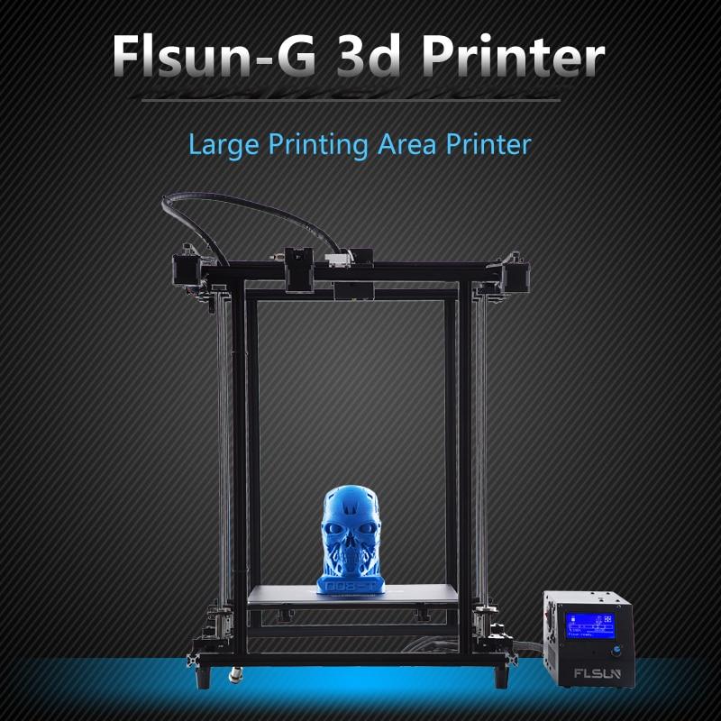 2018 Flsun Corexy 3D impresora más tamaño 320 320*460mm de montaje Metal V- ranura filamento Sensor Dual Z tornillo Heatbed