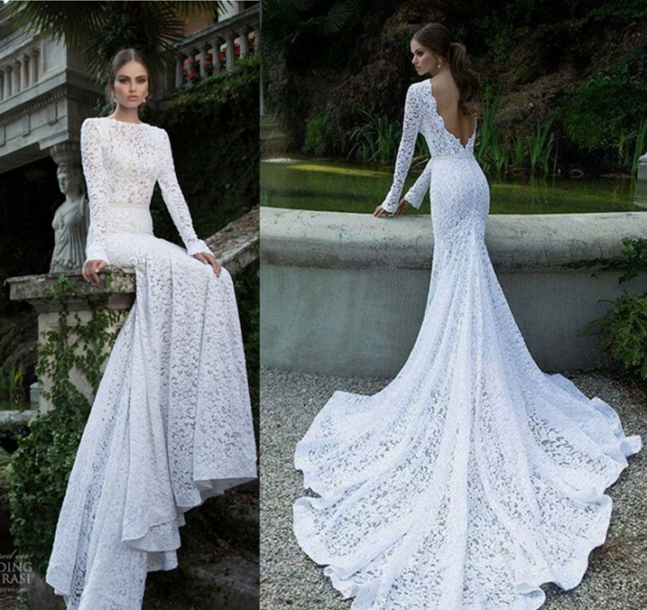 2017 Popular Wedding Dresses All Lace Gown Romantic Dress Simple Backless Sexy For Women In From Weddings Events