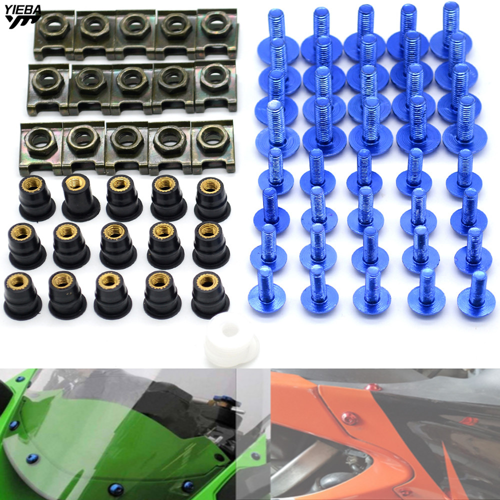 Motorcycle CNC Windshields Fairing Bolts and <font><b>Windscreen</b></font> Bolt for <font><b>SUZUKI</b></font> GSX1250 F/SA/ABS GSX1400 GSX 1400 <font><b>GSX650F</b></font> GSX 650 F Z800 image