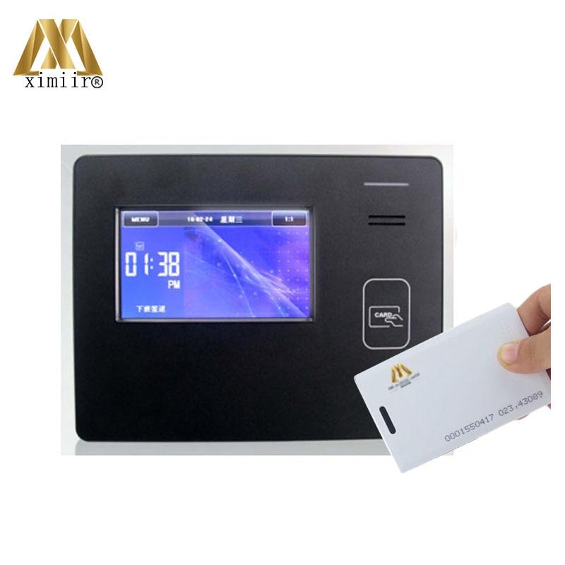 Contactless ID Card Time Attendance Machine TCP/IP WIFI 50000 Cards 125KHZ EM Smart Proximity Card Time Clock CU600