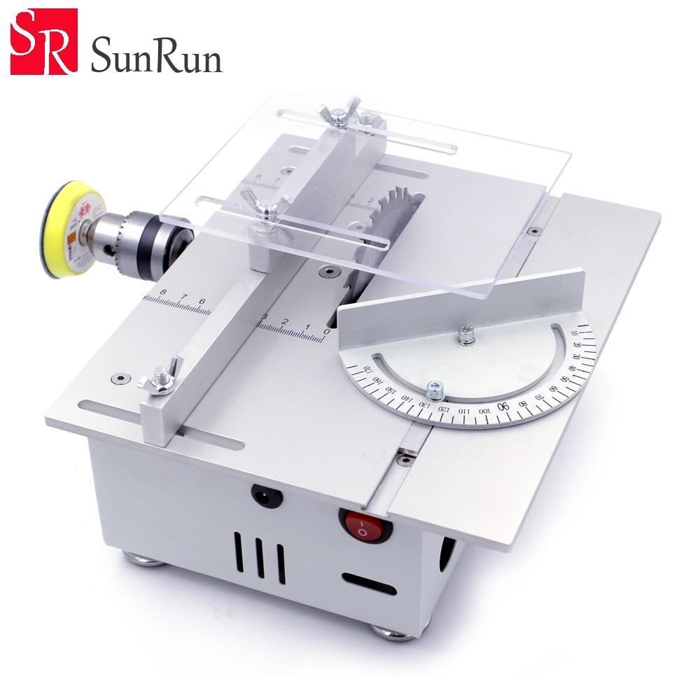New Table Saw High Precision PCB Cutting Machine Cutting/Grinding/Polishing DIY Model Saw Precision Woodworking Saws цены
