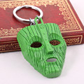Classic   Movie The Mask Green Mask Keychain Halloween Film Loki Gift key holder for car