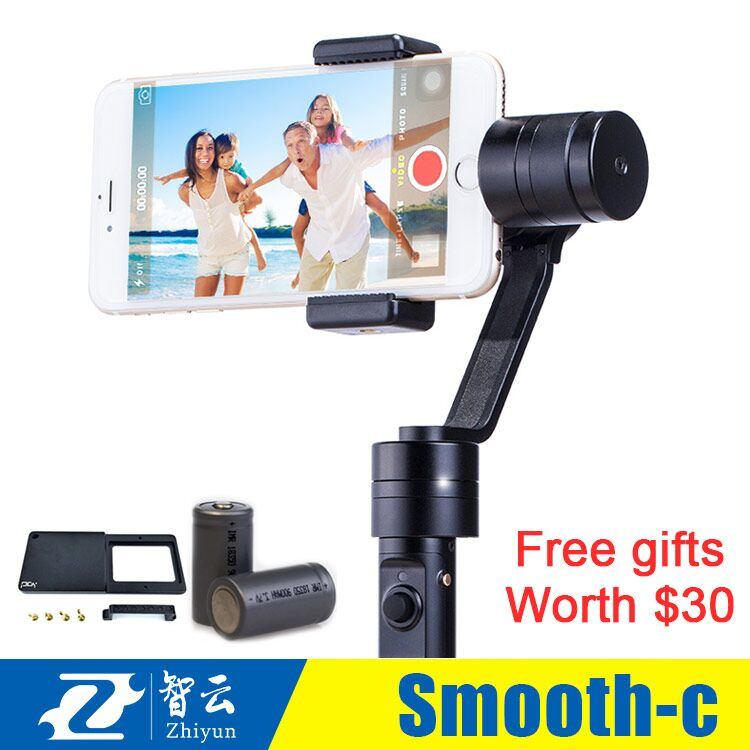 Free DHL Zhiyun Smooth C Plus 3 Axis brushless handheld stabilizer gimbal Zhiyun Z1 Smooth C