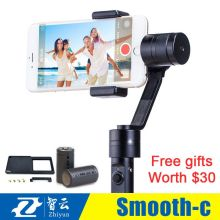 Free DHL Zhiyun Smooth C + Plus 3 Axis brushless handheld stabilizer gimbal Zhiyun Z1 Smooth C smartphone for iphone 6 plus