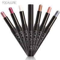 FOCALLURE 12pcs/Kit eyeshadow pallete Cosmetics Eye Shadow Pencil Highlighter Shimmer beauty glazed Eyes Makeup for Woman Set