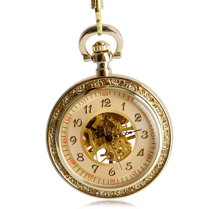 popular engraved pocket watches for men buy cheap engraved pocket 2016 luxury christmas gifts mechanical pocket watch clock wind up vintage engraving full gold hand winding