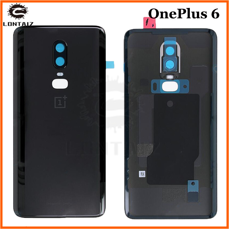 100% Original 3D glass For Oneplus 6 six Battery Door Case Back Cover Rear Phone Housing Case For One Plus 6 Replacement Parts