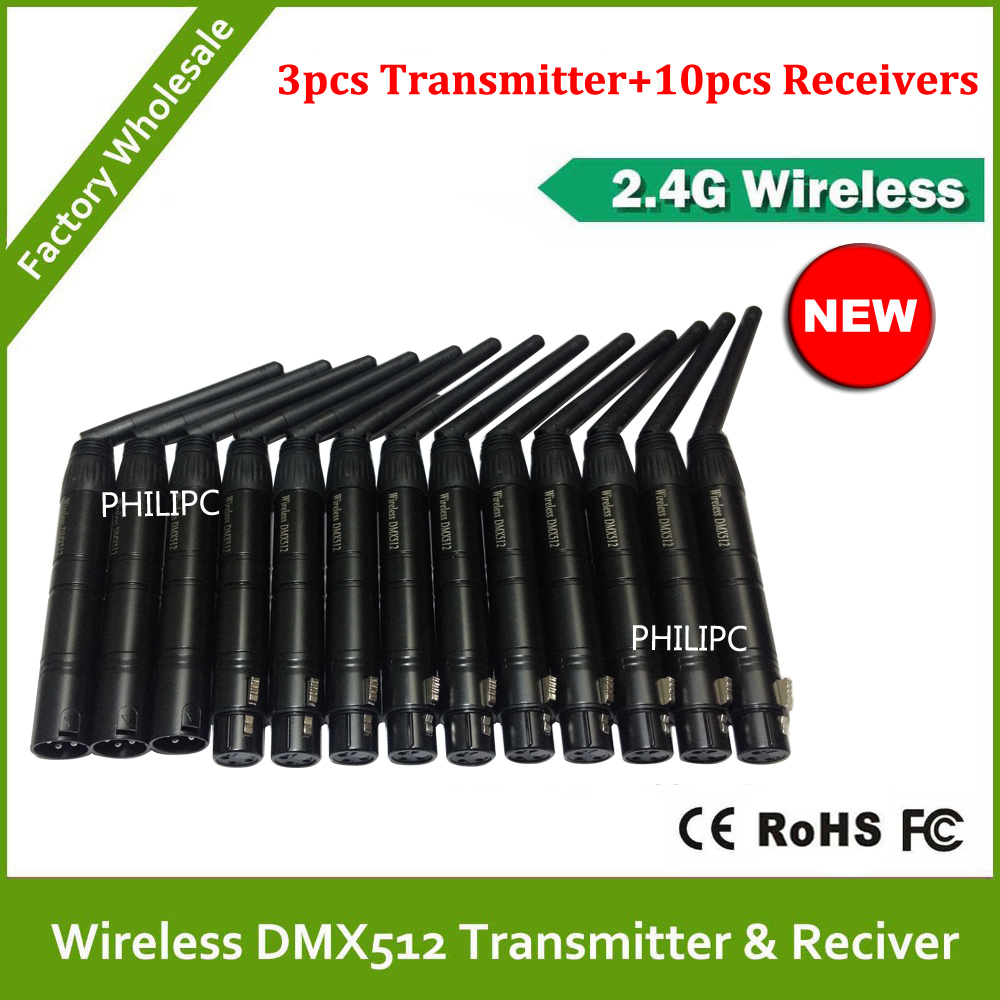 DHL Free Shipping 2.4G wifi Wireless DMX512 transmitter and receiver signal controller DMX 512 For Stage Light dhl free shipping 10pcs dmx512 wireless receiver and transmitter for stage lighting