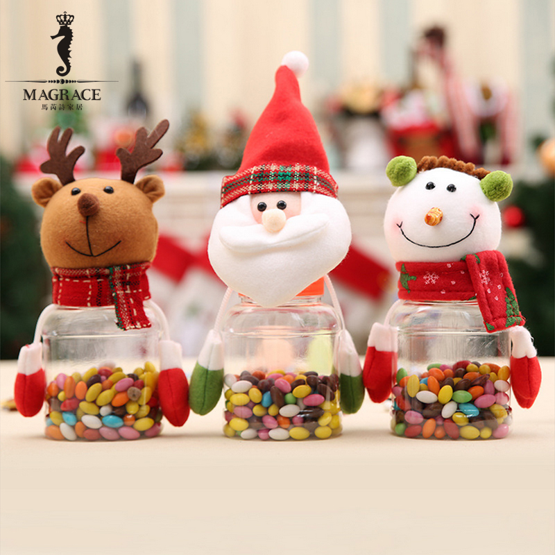 ad3fa97fc936 Christmas Snowman Plastic Candy Container Decorative Candy Jars ...