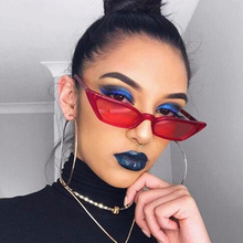 ФОТО sheli fashion new red sunglasses women 2018 trend cat eyes small frame small glasses with lens