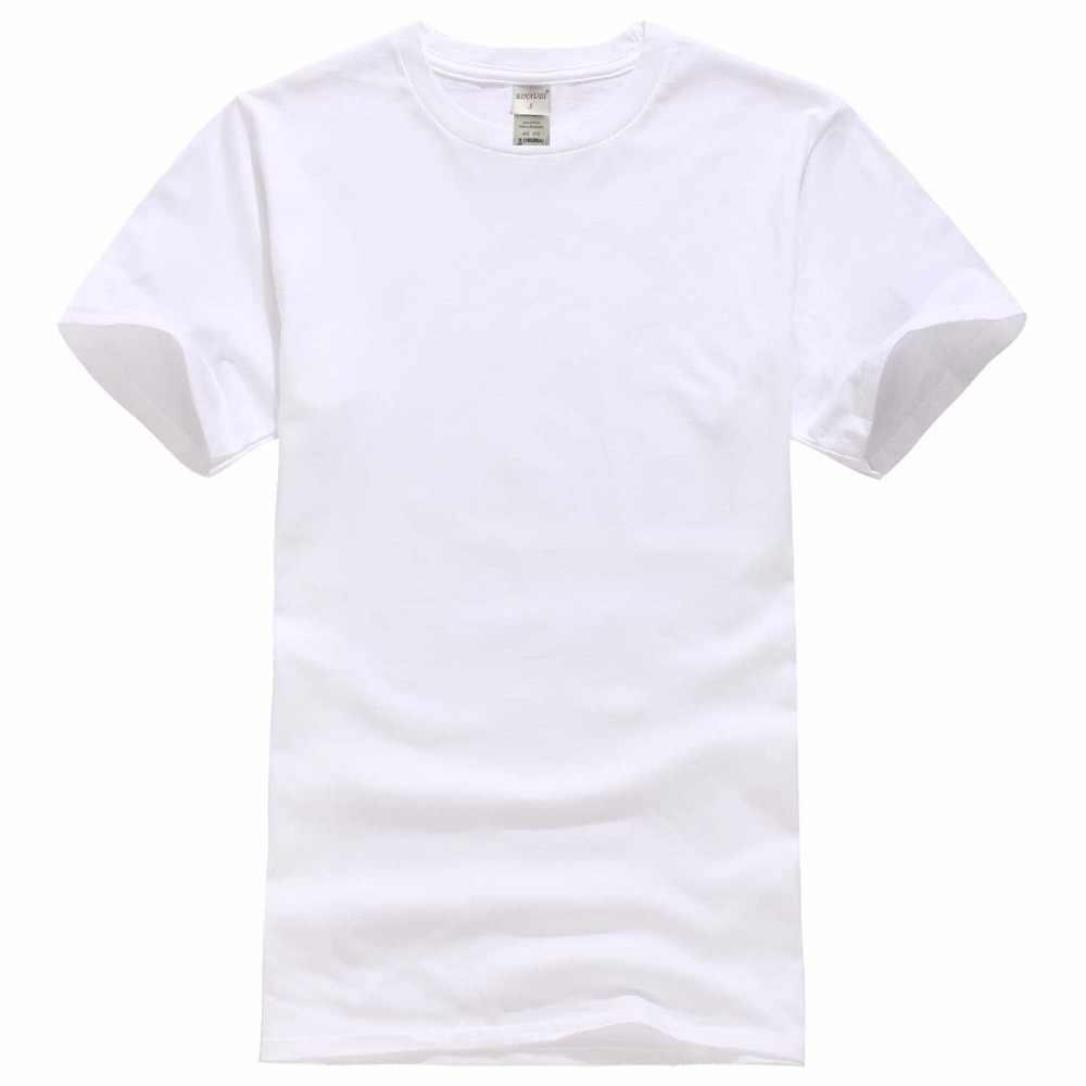 2018 новая Однотонная футболка мужские черно-белые футболки из 100% хлопка летний скейтборд футболка для мальчика