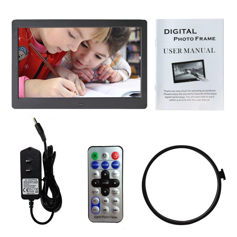 מסגרת דיגיטלית לתמונות כוללת שלט, מטען, מעמד וחוברת הפעלה