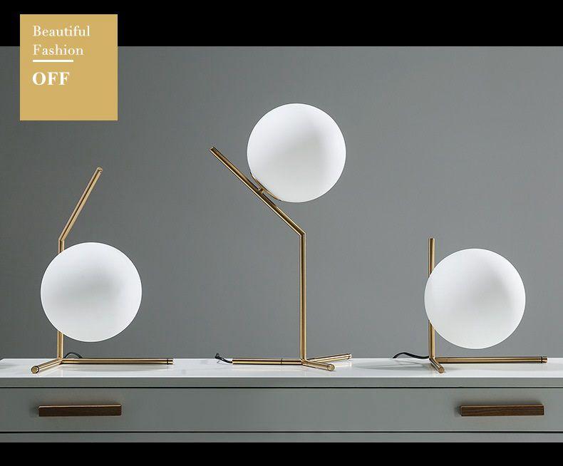 Modern LED Table Lamp Desk Lamp Light Shade Glass Ball Table Lamp Desk Light for Bedroom Living Room Floor Conner Gold Designs (21)
