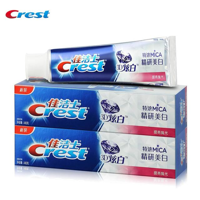 Crest 3D MICA Whitening Plus Toothpastes Teeth Antibacterial Gum Care Tooth Pastes  Herbal Mint Flavor 140g*2pcs