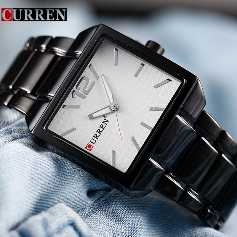 CURREN Watches Mens Brand Luxury Stainless Steel Analog Quartz Watch Men Casual Black Sport Watch Male Clock Relogio Masculino curren watches mens brand luxury quartz watch men fashion casual sport wristwatch male clock waterproof stainless steel relogios