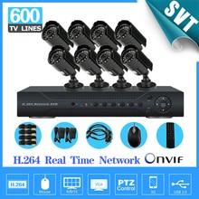 NVR CCTV Home 8CH H.264 Surveillance 8PCS Day Night Weatherproof Camera System Kit Network DVR, IR Security Protection SNV-29