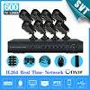 NVR CCTV Home 8CH H 264 Surveillance 8PCS Day Night Weatherproof Camera System Kit Network DVR