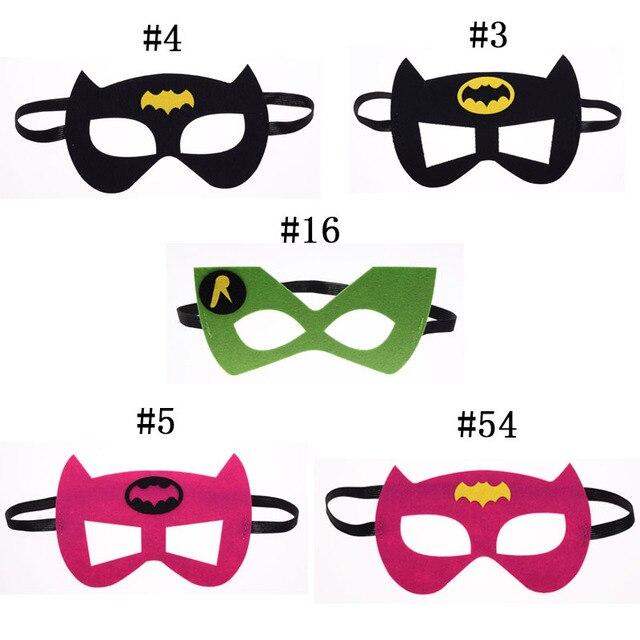5f9ede9af51 Batman BatGirl Superhero mask Cosplay Superman Avengers Thor Halloween  Christmas kids Party Masquerade Costumes Masks