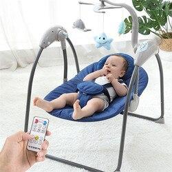 طفل سوينغ لحديثي الولادة الكهربائية كرسي نطاط للأطفال كرسي هزاز للرضع مهد مع جهاز التحكم عن بعد الطفل الطائر