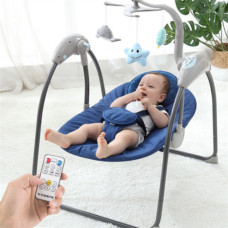 Baby Swing For Newborns Electric Baby Bouncer Baby Rocking Chair Cradle With Remote Control Baby Jumper