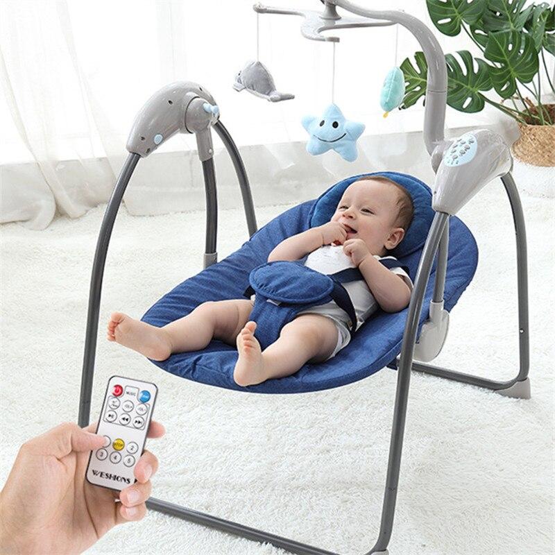 Balançoire bébé pour nouveau-nés électrique bébé videur bébé chaise berçante berceau avec télécommande bébé Jumper