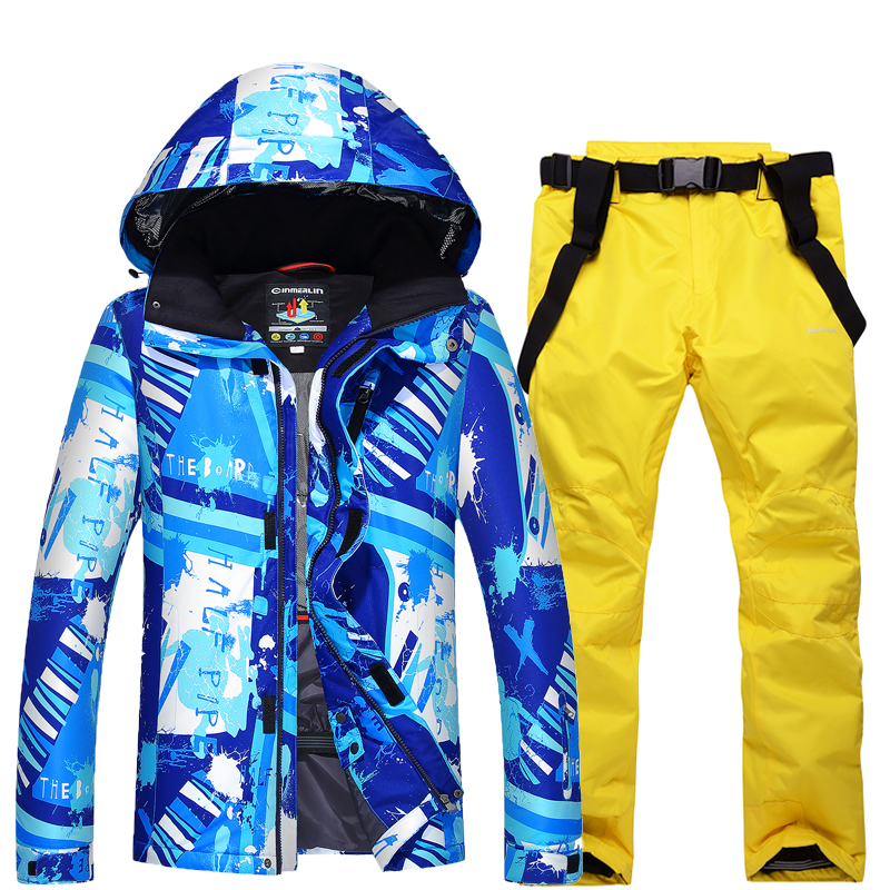 NEW Skiing set Snowboarding sets Men jackets + pants Very Warm Windproof Waterproof Snow suit outdoor Winter Clothes new men snow clothes skiing suit sets specialty snowboarding sets waterproof windproof winter sports snow jackets and pants