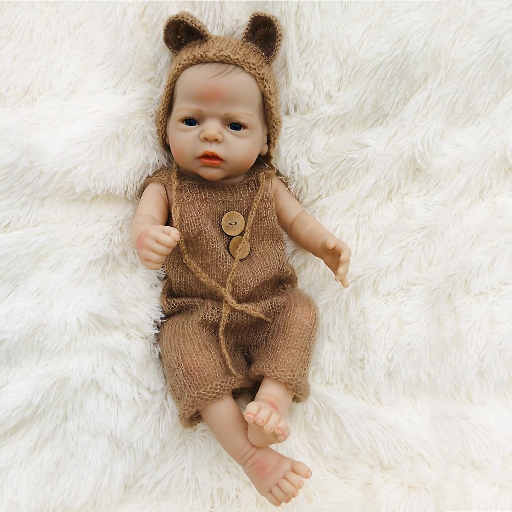 Unique bebe Reborn bébé poupée Silicone vinyle corps avec vêtements en laine vraie touche nouveau-né 22 ''/55 cm fille jouets cadeau bonecas