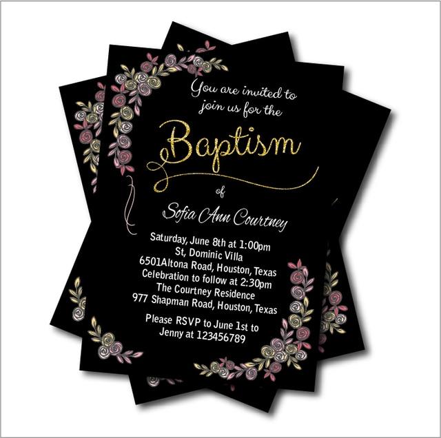20pcs/lot Vintage Baptism Invitation Baby shower Birthday Invites