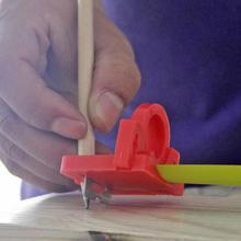 Marcador de línea para carpintería, marcador de línea de centro de calibre, medidor de línea de ángulo, regla de corte de tablero de carpintero, envío directo