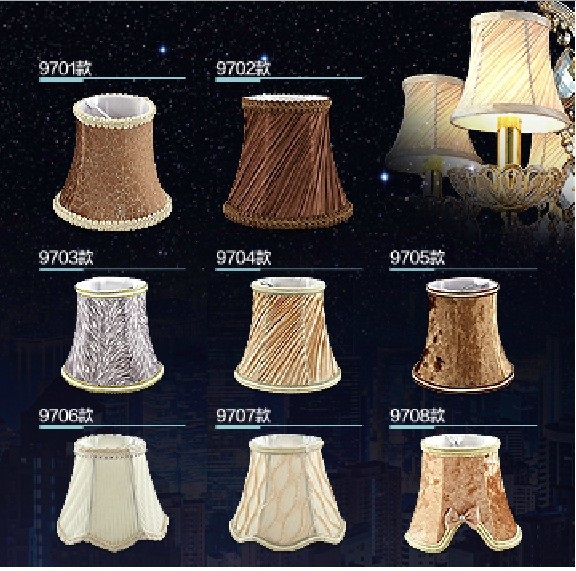Material Lamp Shades: Lighting fashion Lamp shade light luxury modern crystal candle lighting  accessories fabric lamp cover(China,Lighting