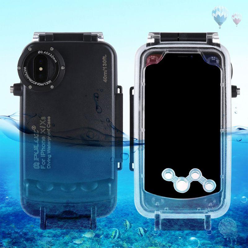1 Pc 3 couleurs en option 40 M/130FT sous-marine étanche plongée logement couverture coque étui de protection pour téléphones mobiles