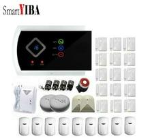 SmartYIBA Wireless Home Burglar Alarm System Gas Smoke Fire Sensor Detector APP Remote Control Russian Spanish French Voice