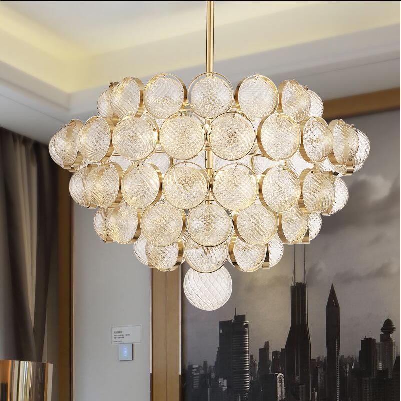 italian modern design luxury gold glass pendant lights lamps e14 hanging light for foyer dining living room hotel home lights