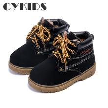 Comfy kids  winter Fashion Child Leather Snow Boots For Girls Boys Warm Martin Boots Shoes Casual Plush Child  Baby Toddler Shoe
