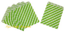 "50pcs/lot 5*7"" Apple Green Diagonal Striped Party Paper Treat Bags Candy Buffet Gift Packaging Wedding Birthday Party Favors"