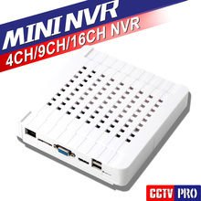 4Ch 9Ch 16Ch 5.0MP/3.0MP/VGA y Salida HDMI de 1080 P Mini NVR Onvif CCTV IP Camera Recorder P2P Nube iPhone Android View
