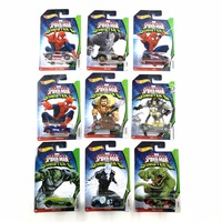 Hot Wheels Car MARVEL Ultimate Spider Man Sinister6 Collector's Edition Metal Diecast Cars Kids Toys Vehicle For Gift 10pcs/set