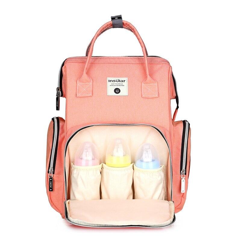 Sac de maternité sac à langer de Maman Grande Capacité sac pour bébé sac à dos de voyage Conception Soins Infirmiers Poussette Fronde Humide Sac coussin à langer Lingettes Boîte
