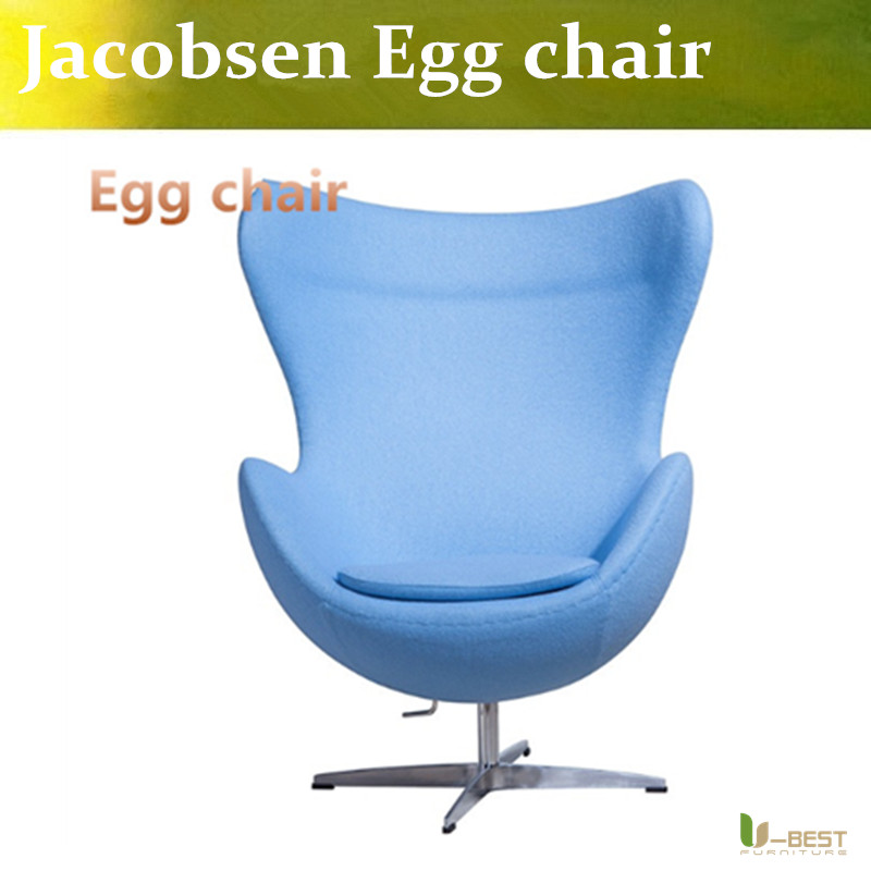 u best leisure arne jacobsen egg chair in red wool aluminum egg pod chair for the lobby and reception areas of the royal hotel U-BEST The new design modern cheap Jacobsen inspired egg chair&sofa chair