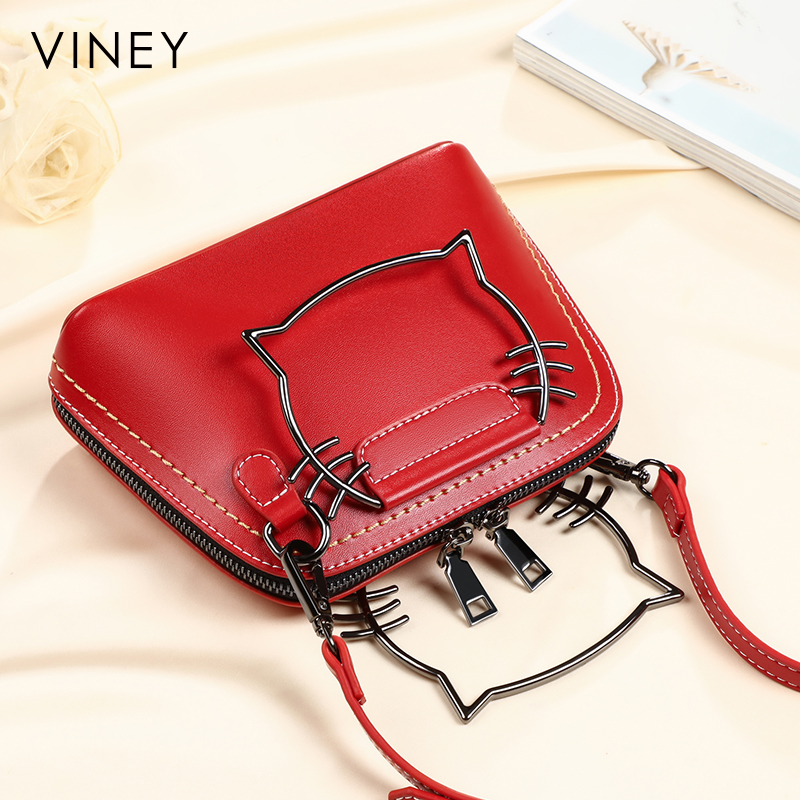 Female 2019 new Viney bag leather handbag ins han edition joker his hand new packets on