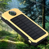 Universal Portable Source Ultra Thin 20000mAh Large Capacity Solar Mobile Power Bank Phone Charging Treasure With