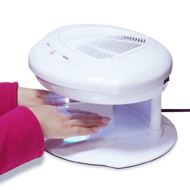 Professional Sensor Fast Nail Polish Dryer Fan Tool Warm&Cool Breeze ...