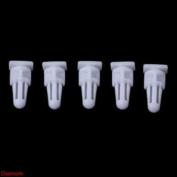 5Pcs Clips For BMW 3 Series E30 E36 Sill Cover Kick Plate Trim White image